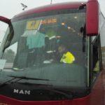 Denunciado el conductor de un autobús escolar que dio positivo en drogas en Badajoz
