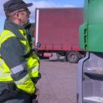 Control de los tacógrafos de camiones en la gasolinera de Alfajarín – Vídeo