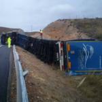 Llega el primer accidente de un Megacamión en España