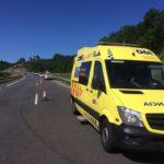 Un conductor de ambulancia ebrio deja ´tirados´ a tres pacientes tras chocar con un coche en Porriño