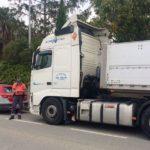 Un camionero sin puntos en el carné,  con positivo en cocaína en la N-121A