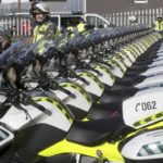 El radar va en moto de la Guardia Civil