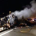 Fuertes retenciones de hasta 8 km en la AP-7 por el incendio de un camión
