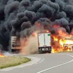 Un camionero ha perdido la vida tras la violenta colisión de 2 camiones en la RN4