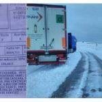 500€ por conducción temeraria y mal estacionado, cuando estaba atrapado por la nieve