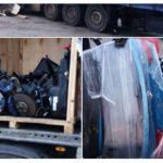 Detenido un camión lituano con un BMW X5 robado y desguazado
