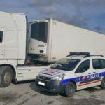 Detenido un camionero español por quedarse dormido al volante 160 metros