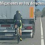 Camionero condenado a 2 años de cárcel:  el arcén tenía 2 metros, aun así el ciclista circulaba por el extremo izquierdo