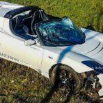 Un exceso de velocidad de 120,000 euros en un Tesla Roadster 2.5