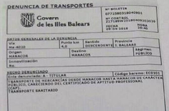 La Guardia Civil clasifica de «Mercancía» a los pacientes de una ambulancia