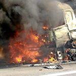 Se incendia un camión cisterna en la A-61 en Carcasona