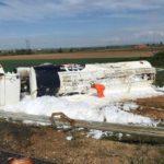 ¡¡Atención!! Cerrada la AP-71 por un grave accidente con un fallecido y dos heridos en Villadangos del Páramo