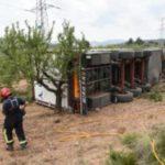 Fallece un camionero de 60 años tras un accidente al adelantar a otro camión en Segorbe
