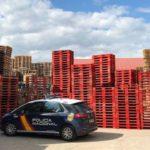 Recuperados más de 2.200 palés adquiridos de forma fraudulenta por una empresa de Burgos