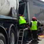 La colisión entre seis camiones deja un muerto y tres heridos en Vinaròs