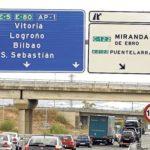 La autopista Vitoria-Burgos será gratuita desde el 1 de diciembre