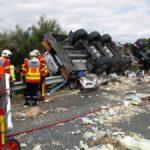 Muere el conductor de un camión español al colisionar con un vehículo de mantenimiento en la A-20 Francia