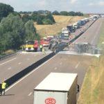 El fuego de un camión corta la autopista A29 de Seine-Maritime en ambas direcciones