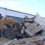 Heridos de gravedad los dos ocupantes de un camión que fue arrollado por un tren en Málaga