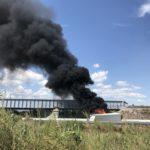 Cerrada al tráfico la autopista  A-9 tras el accidente de camiones entre Le Boulou y Perpignan Sur