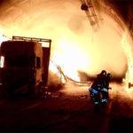 Infierno en la A14, camión en llamas en el túnel de Grottammare. FOTOS – VÍDEO