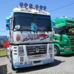 Multados con 80 euros por ruidos los camiones que desfilaron en la Pola