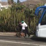 Un Conductor de autobús, deja KO a un veraneante tras una discusión de tráfico en Gran Canaria