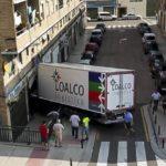 Un camión se empotra en una joyería de Zaragoza