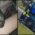 Pone un imán por venganza a un camión frigorífico y después llama a la policía