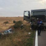 Fallece una niña  de 5 años en un trágico accidente entre un coche y un camión del ejército en Salamanca