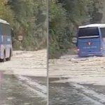 Así fue el recorrido de un autobús durante la riada de Girona – Vídeo