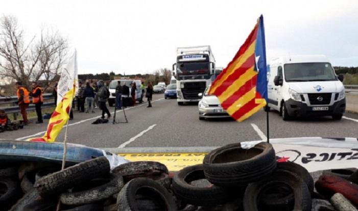 Última hora en las carreteras bloqueadas por manifestantes en Cataluña