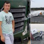 """Este es Peter, el camionero que salvó a una niña de 9 años en Francia, lloró cuando la sacó del coche: """"¡También soy un padre de una niña!"""""""