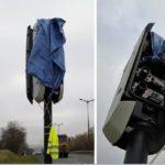 Radar recién instalado, radar ¡¡destrozado!! Así comienzan las movilizaciones de los chalecos amarillos en Francia