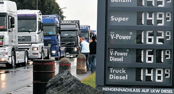 Las compañías de transporte se están viendo arruinadas por los altos precios del diesel
