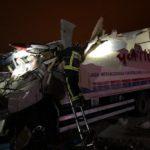 Agónico rescate de un camionero, esta madrugada, en Torredonjimeno