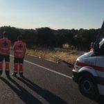 Muere calcinado un camionero gallego al chocar contra una base de hormigón e incendiarse  en la autovía A-5 a la altura de Almaraz