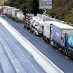 Cerradas las fronteras de Francia y Bélgica a camiones por la nieve