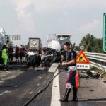 El camionero que murió en la A-21 llevaba 3 días conduciendo sin hacer descansos. Al propietario le piden 6 meses y cerca de 500.000 €