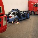 Tres muertos y cuatro heridos tras una brutal colisión de dos camiones, una motocicleta, un coche, y una furgoneta