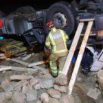 Fallece un camionero de Santander con 43 años en la N-211,  Monreal del campo