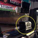 Multado un camionero por instalar un microondas en el salpicadero