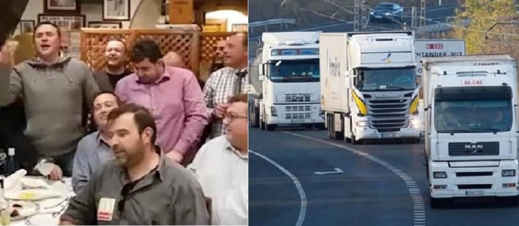 El villancico viral de los camioneros contra Pedro Sánchez y otros políticos