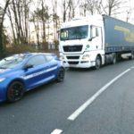 Interceptan un camión articulado a 127 km/h en un tramo de vía limitado a 70