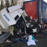 Un camionero de 55 años pierde la vida al colisionar con otro camión por alcance en la A1 en el Somme.