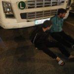 Camioneros capturan a dos conductores saqueando Gasoil de varios camiones en  Dachser Strasbourg