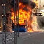 Un autobús explota en Estocolmo por un fallo técnico