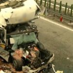 El brutal impacto dejó malheridos a dos camioneros Lituanos