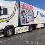 Seis camiones de Primafrio promocionan el Bando de la Huerta por toda Europa