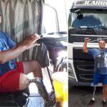 Ejemplo de superación de un camionero de J. Carrión, con una pierna menos